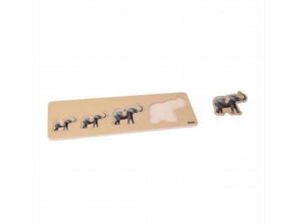 Puzzle pro nejmenší: 4 sloni