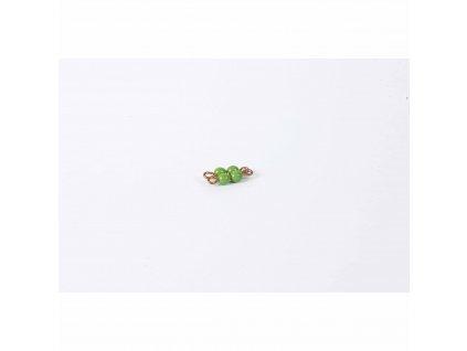 Korálkový čtverec, skleněné korálky - 2x2 (zelený)