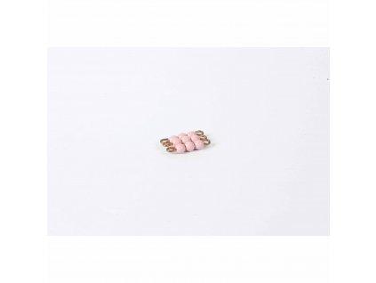 Korálkový čtverec, skleněné korálky - 3x3 (růžový)