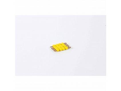 Korálkový čtverec, skleněné korálky - 4x4 (žlutý)