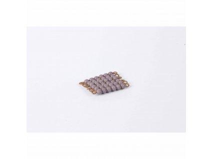 Korálkový čtverec, skleněné korálky - 6x6 (fialový)