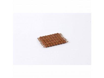 Korálkový čtverec, skleněné korálky - 8x8 (hnědý)