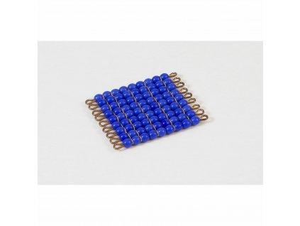Korálkový čtverec, skleněné korálky - 9x9 (tmavě modrý)
