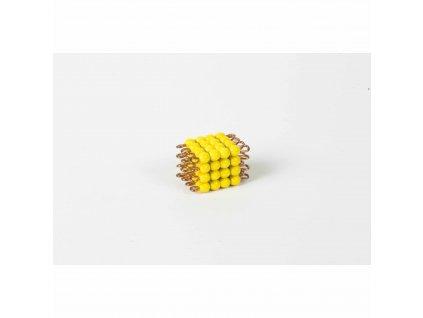 Korálková krychle, skleněné korálky - 4x4x4 (žlutá)