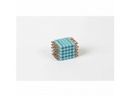 Korálková krychle, skleněné korálky - 5x5x5 (světle modrá)