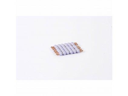 Korálkový čtverec, umělé korálky - 6x6 (fialový)
