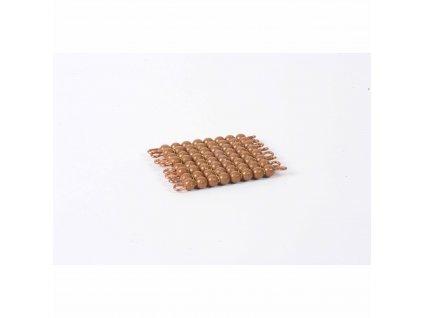 Korálkový čtverec, umělé korálky - 8x8 (hnědý)