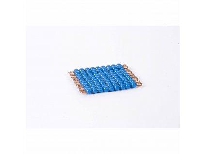Korálkový čtverec, umělé korálky - 9x9 (tmavě modrý)