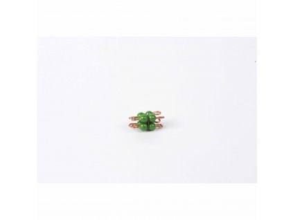 Korálková krychle, umělé korálky - 2x2x2 (zelená)