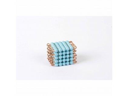 Korálková krychle, umělé korálky - 5x5x5 (světle modrá)