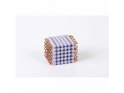 Korálková krychle, umělé korálky - 6x6x6 (fialová)