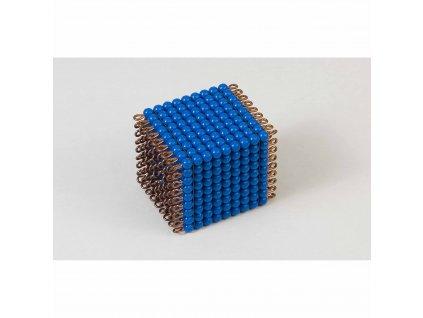 Korálková krychle, umělé korálky - 9x9x9 (tmavě modrá)
