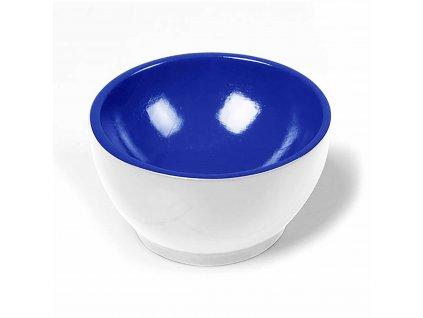 Dřevěný kalíšek: bílo-modrý