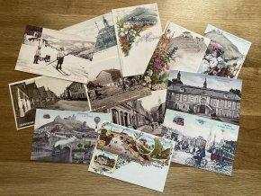 Reprodukce historických pohlednic - 10 kusů