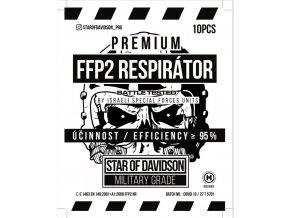 Respirátor FFP2 STAR OF DAVIDSON MILITARY GRADE NANO PROTECT