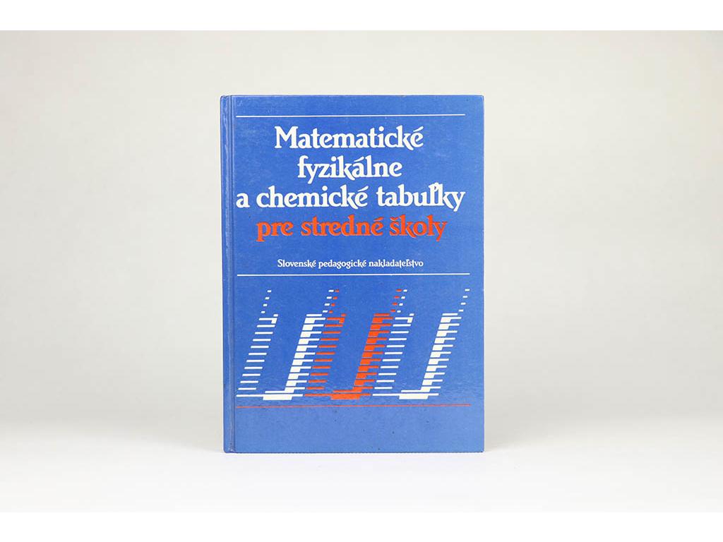 Matematické fyzikálne a chemické tabuľky pre stredné školy (1989)