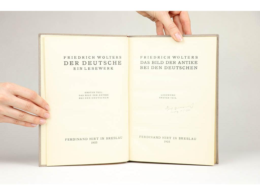 Friedrich Wolters - Das Bild der Antike bei den Deutschen (1925)