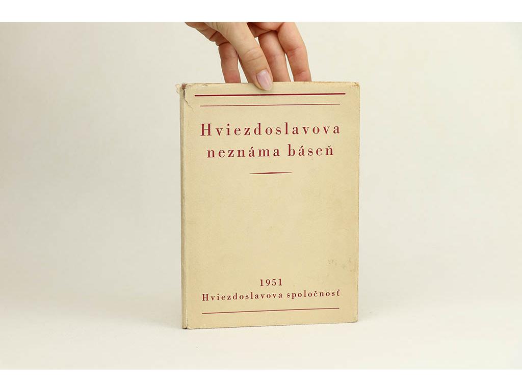 0ae9957f9 Antikvariát Staroknih │ Hviezdoslavova neznáma báseň (1951)