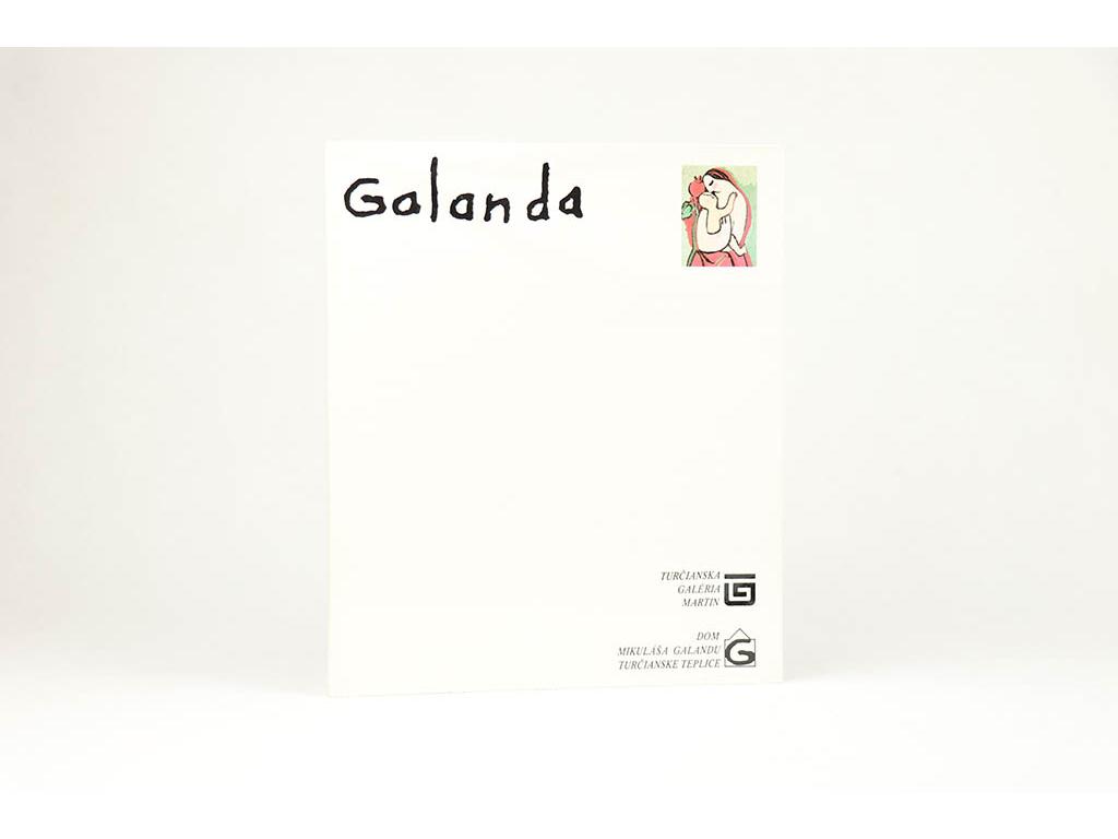 Galanda: katalóg stálej expozície zo života a tvorby (1989)