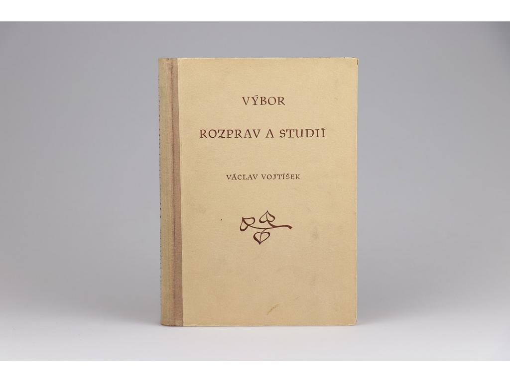 Václav Vojtíšek - Výbor rozprav a studií (1953)