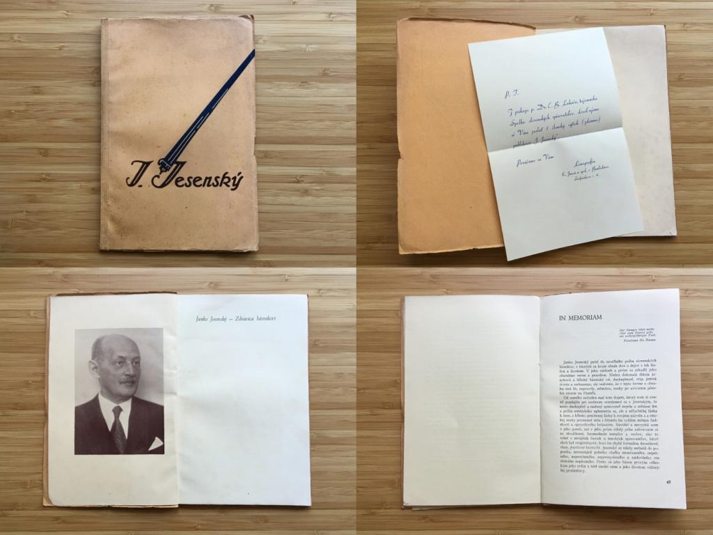 Janko Jesenský: Zdravica básnikovi (1934)