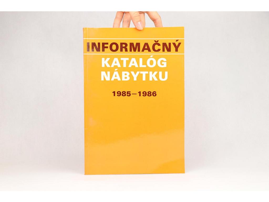 Informačný katalóg nábytku 1985-1986