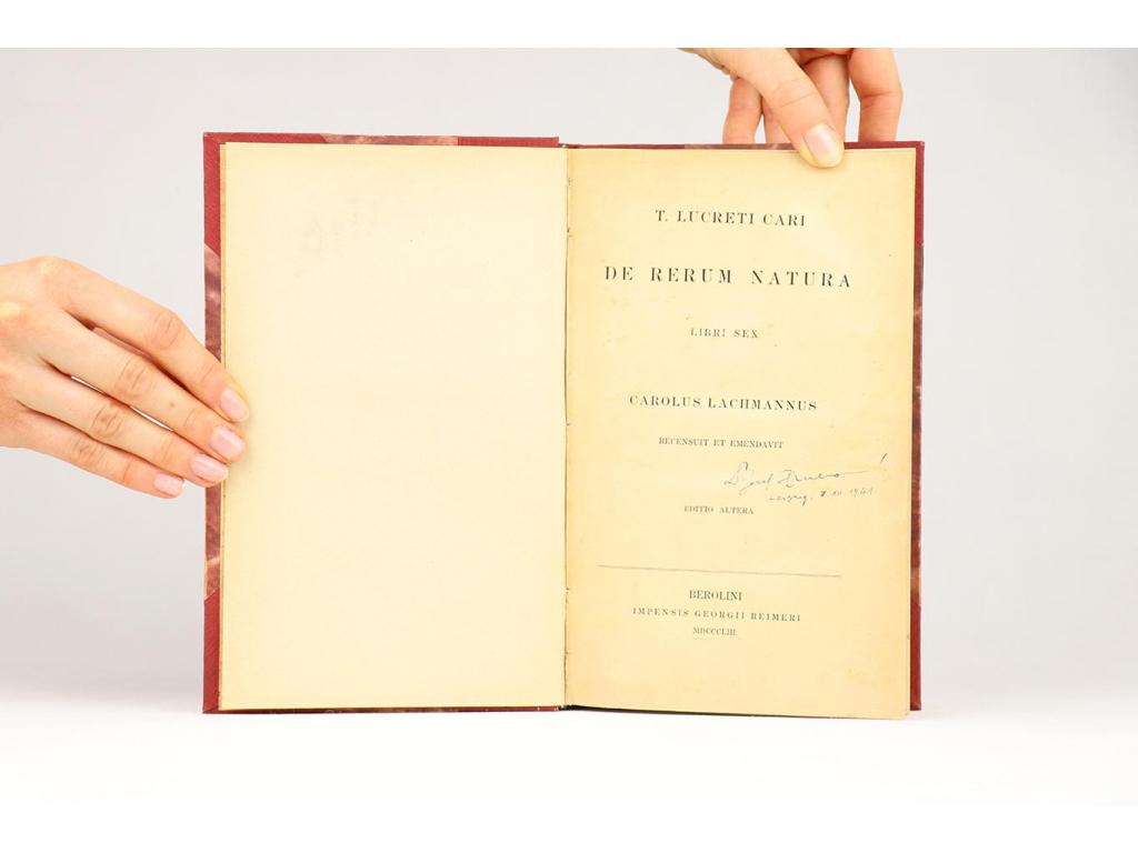 T. Lucreti Cari - De Rerum Natura (1853)