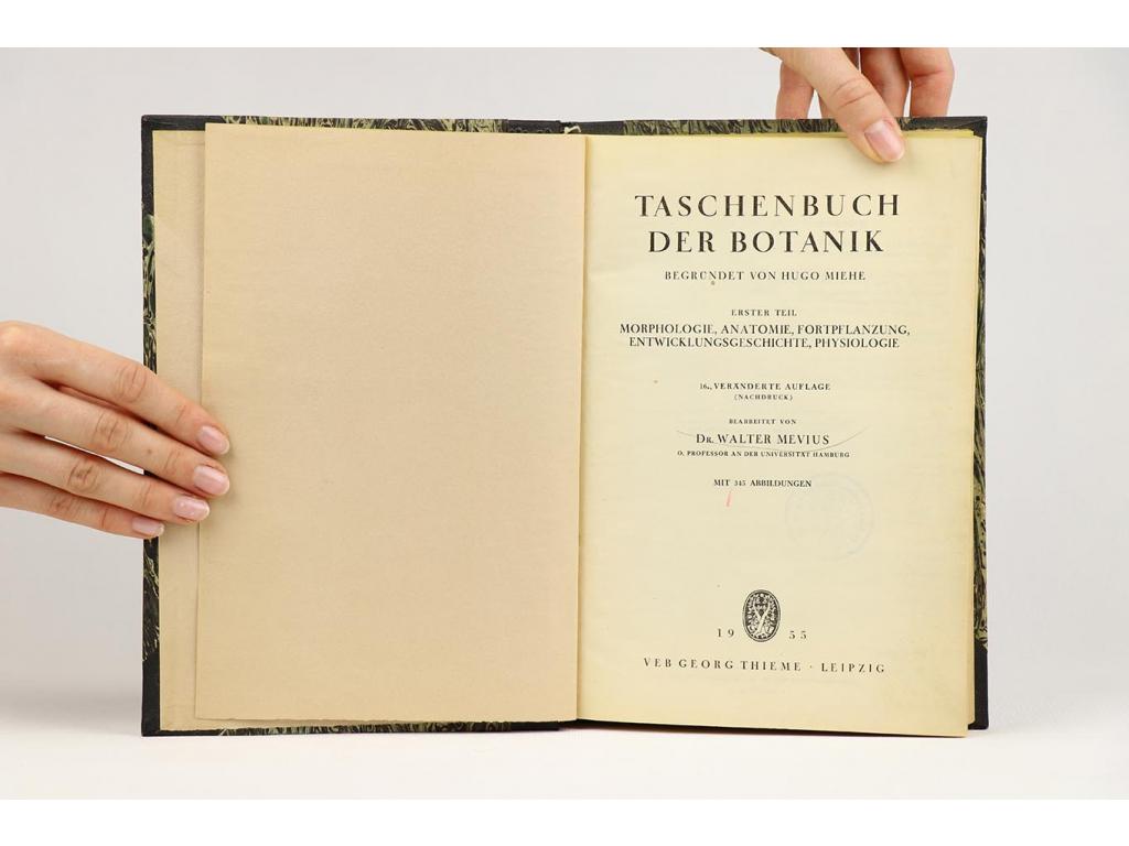 Taschenbuch der Botanik I-II (1955)