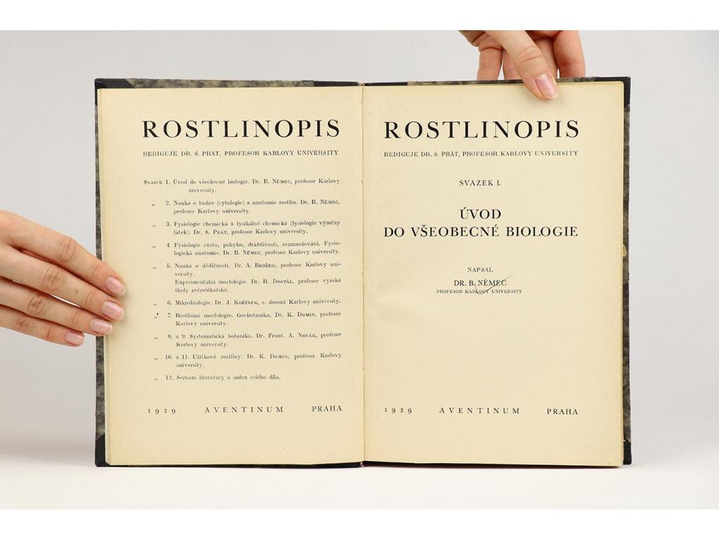 Rostlinopis, svazek první: Úvod do všeobecné biologie (1929)