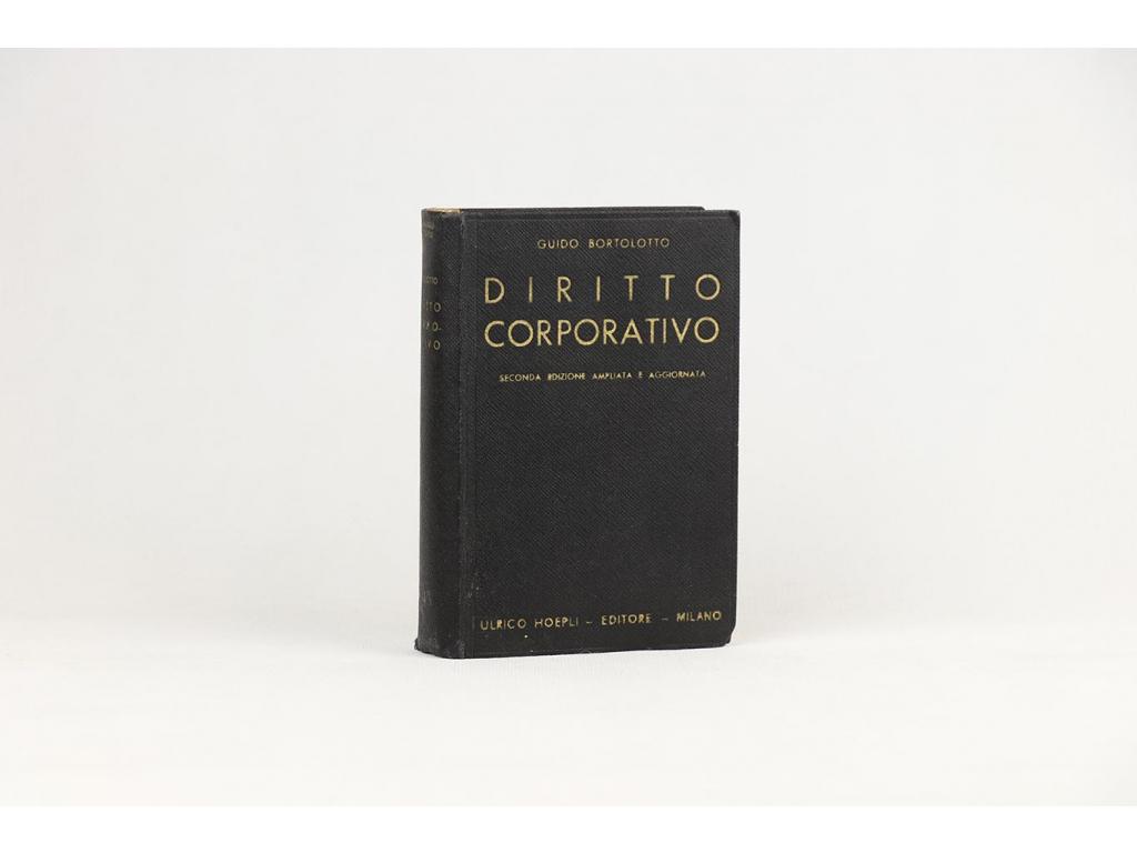 Guido Bortolotto - Diritto Corporativo (1938)