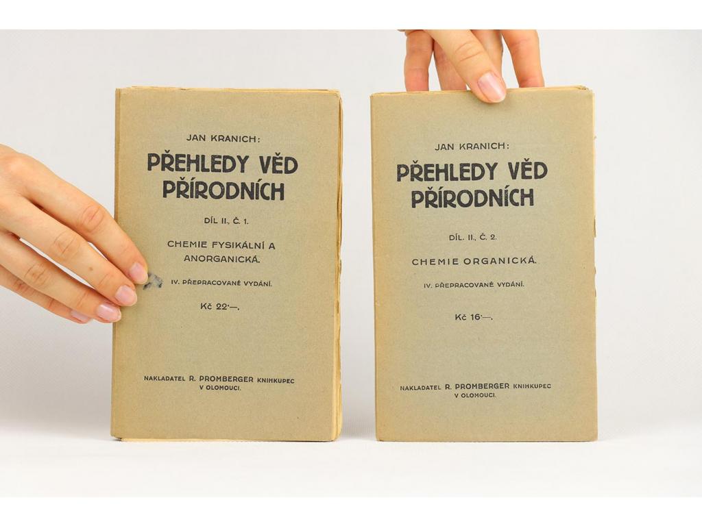 Jan Kranich - Přehledy věd přírodních, díl II, č. 1-2 (1930)