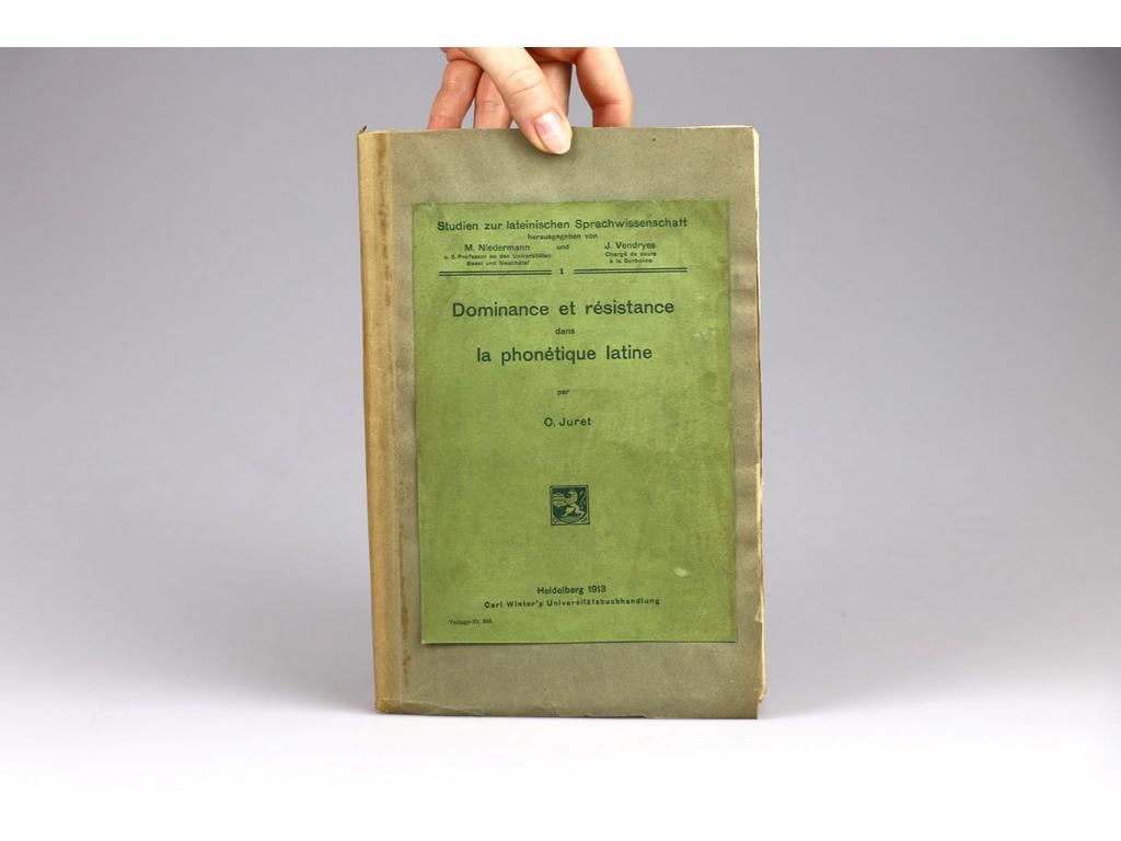 C. Juret - Dominance et résistance dans la phonétique latine (1913)