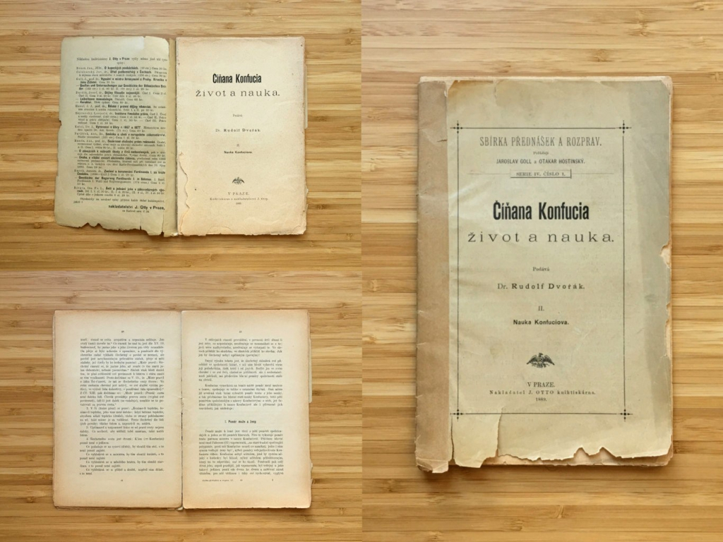 Rudolf Dvořák - Číňana Konfucia život a nauka (1889)