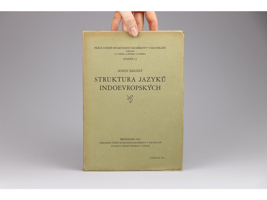 Josef Baudiš - Struktura jazyků indoevropských (1932)