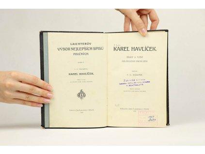 T. G. Masaryk - Karel Havlíček. Snahy a tužby politického probuzení (1920)