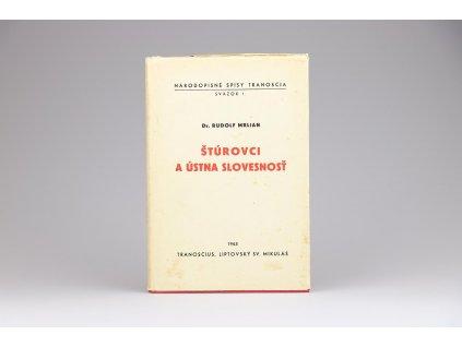 Rudolf Mrlian - Štúrovci a ústna slovesnosť (1943)