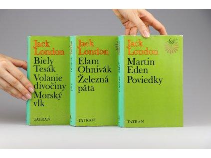 Jack London - Biely tesák, Volanie divočiny, Morský vlk + Elam, Ohnivák, Železná päta + Martin Eden, Poviedky (1979)