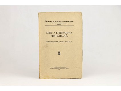 jaroslav Vlček, Jozef Škultéty - Dielo literárno-historické (1934)