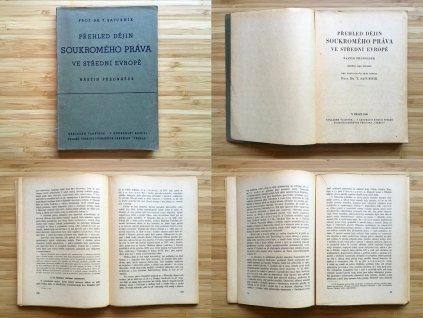 T. Saturník - Přehled dějín soukromého práva ve střední Evropě (1945)