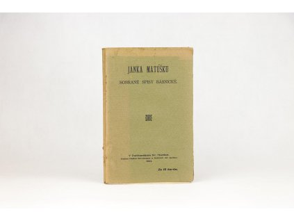 Janka Matúšku sobrané spisy básnické (1921)