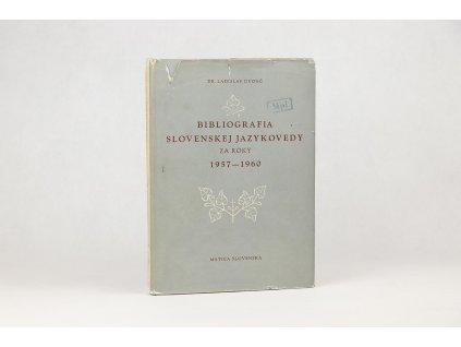 Ladislav Dvonč - Bibliografia slovenskej jazykovedy za roky 1957-1960