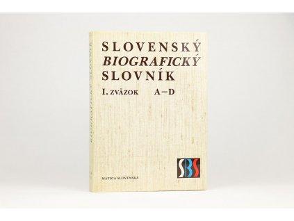Slovenský biografický slovník, I. zväzok, A-D (1986)