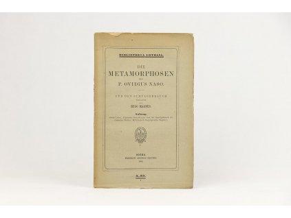 P. Ovidius Naso - Die Metamorphosen (1885)