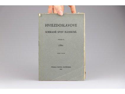 Hviezdoslavove sobrané spisy básnické. Sväzok IX. (1941)