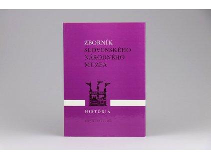Zborník Slovenského národného múzea: História 31 (1991)