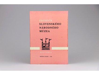 Zborník Slovenského národného múzea: História 29 (1989)