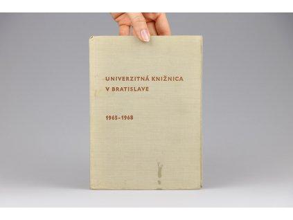 Univerzitná knižnica v Bratislave 1965-1968