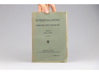 Sobrané spisy básnické Hviezdoslava, sväzok II.: Oddiel lyrický (1928)