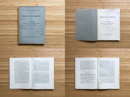 Bohuš Tomsa - Právo mezinárodní, díl prvý (1930)