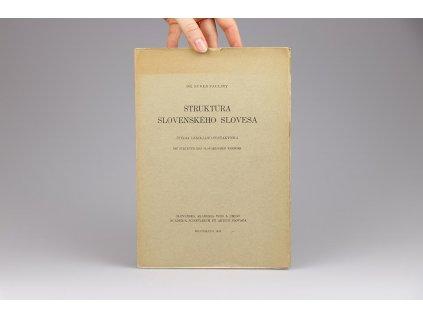 Eugen Pauliny - Štruktúra slovenského slovesa (1943)